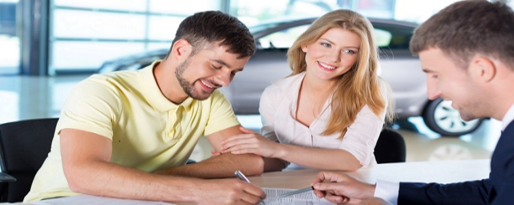 cosigner, getting car loan, dealership desk