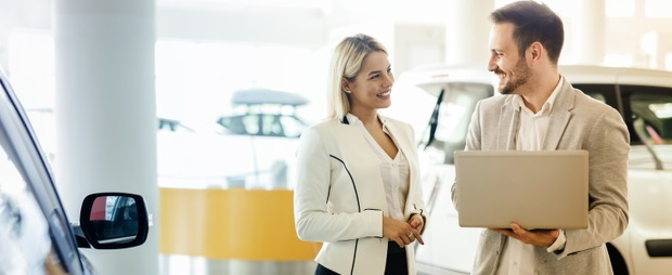 two dealership salespeople