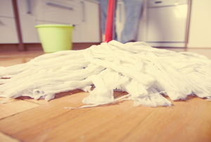 mop on a floor