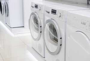Washing machines and dryers.