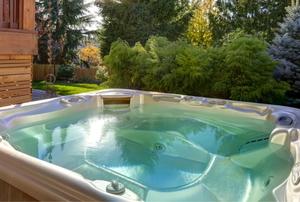 A hot tub.