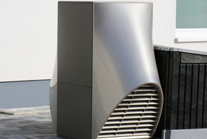 geothermal heating and cooling system fan