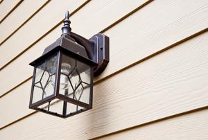 A porch light.