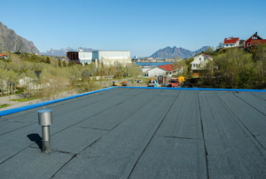 flat roof with scenery in the background