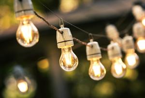 string of exterior light bulbs