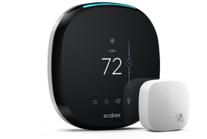 The ecobee4 on a white background.
