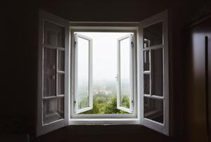 An open window.