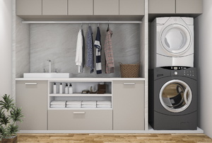 built in laundry room cabinets