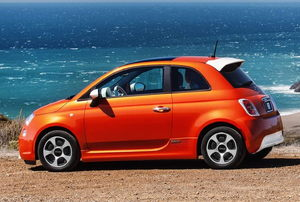 Orange electric car