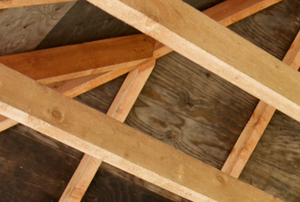 wooden roof rafters