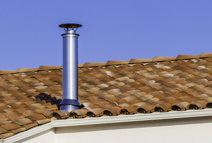 chimney protruding from a roof