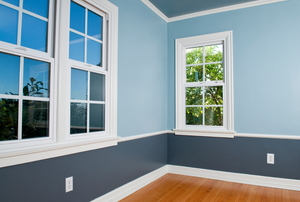 A room with wainscot.