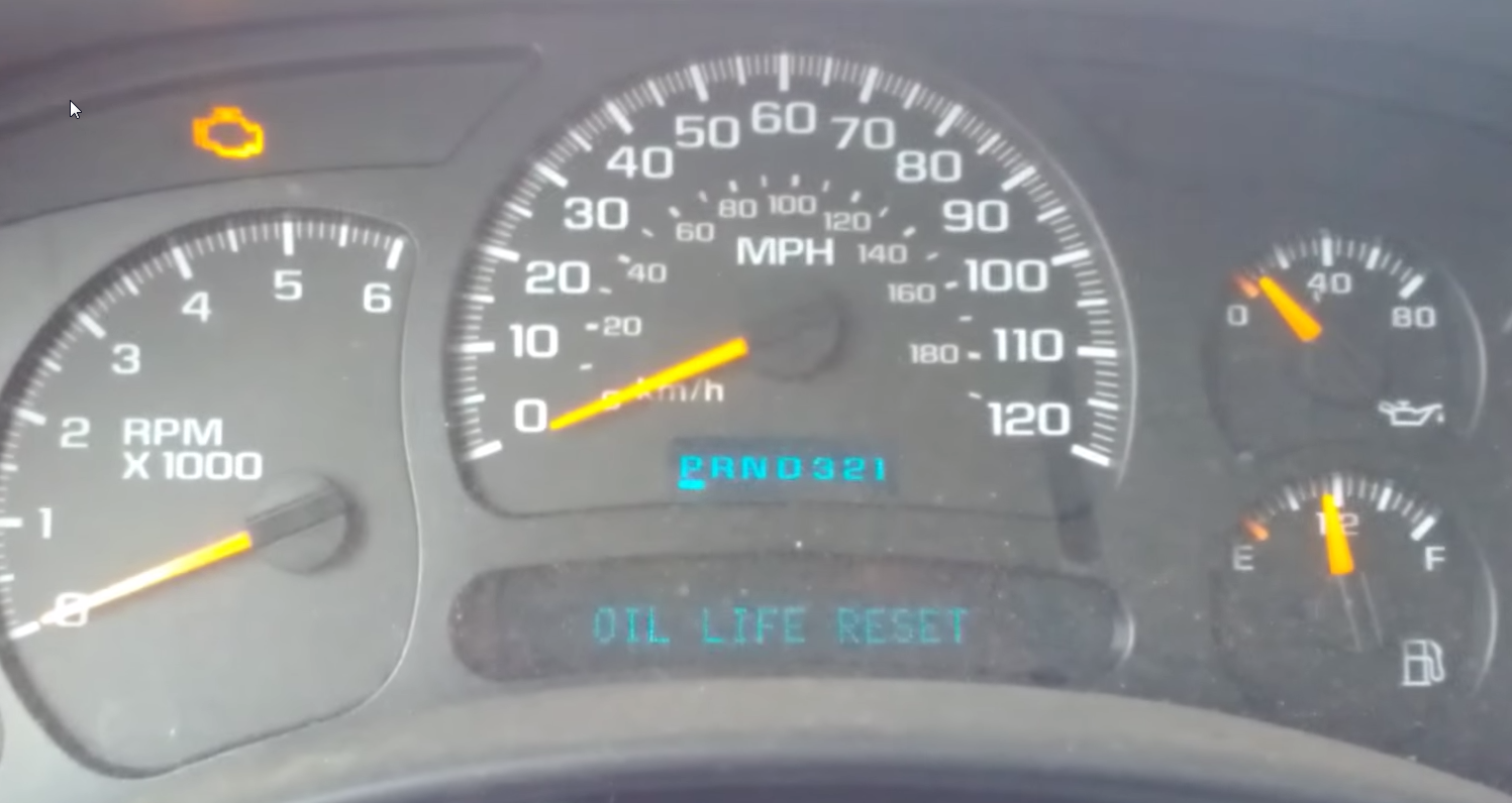 Resetting The Check Engine Oil Light Without Cid