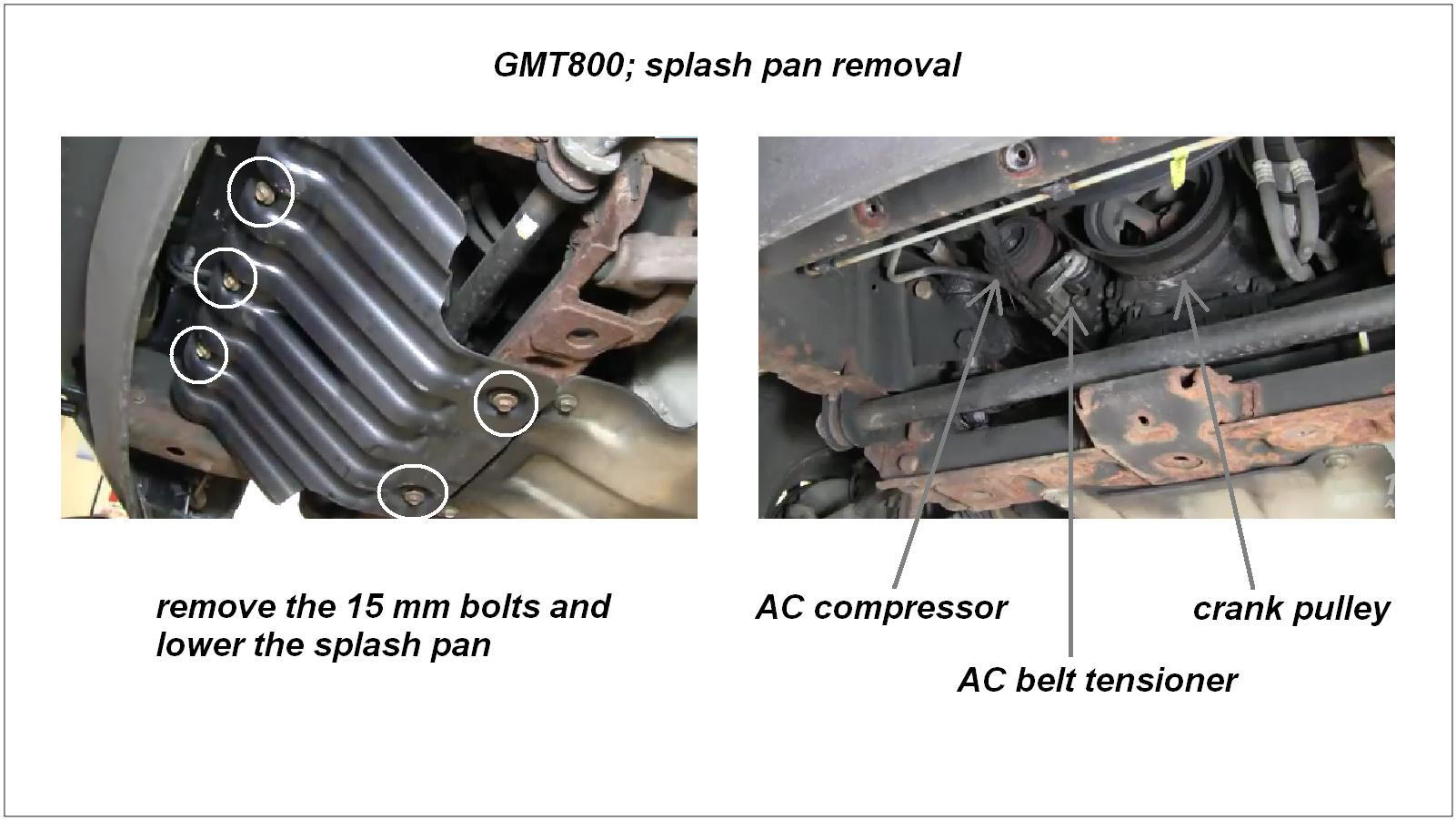 Chevrolet Silverado 1999-2006 GMT800 How to Replace A/C Belt