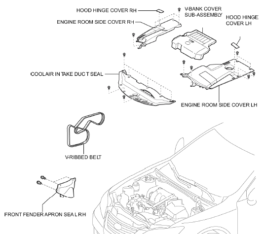 service manual  1999 lexus es t belt replacement