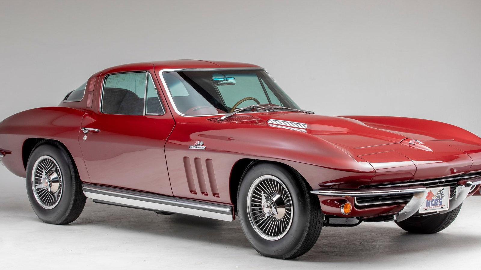 Restored 1965 Milano Maroon Corvette Stuns
