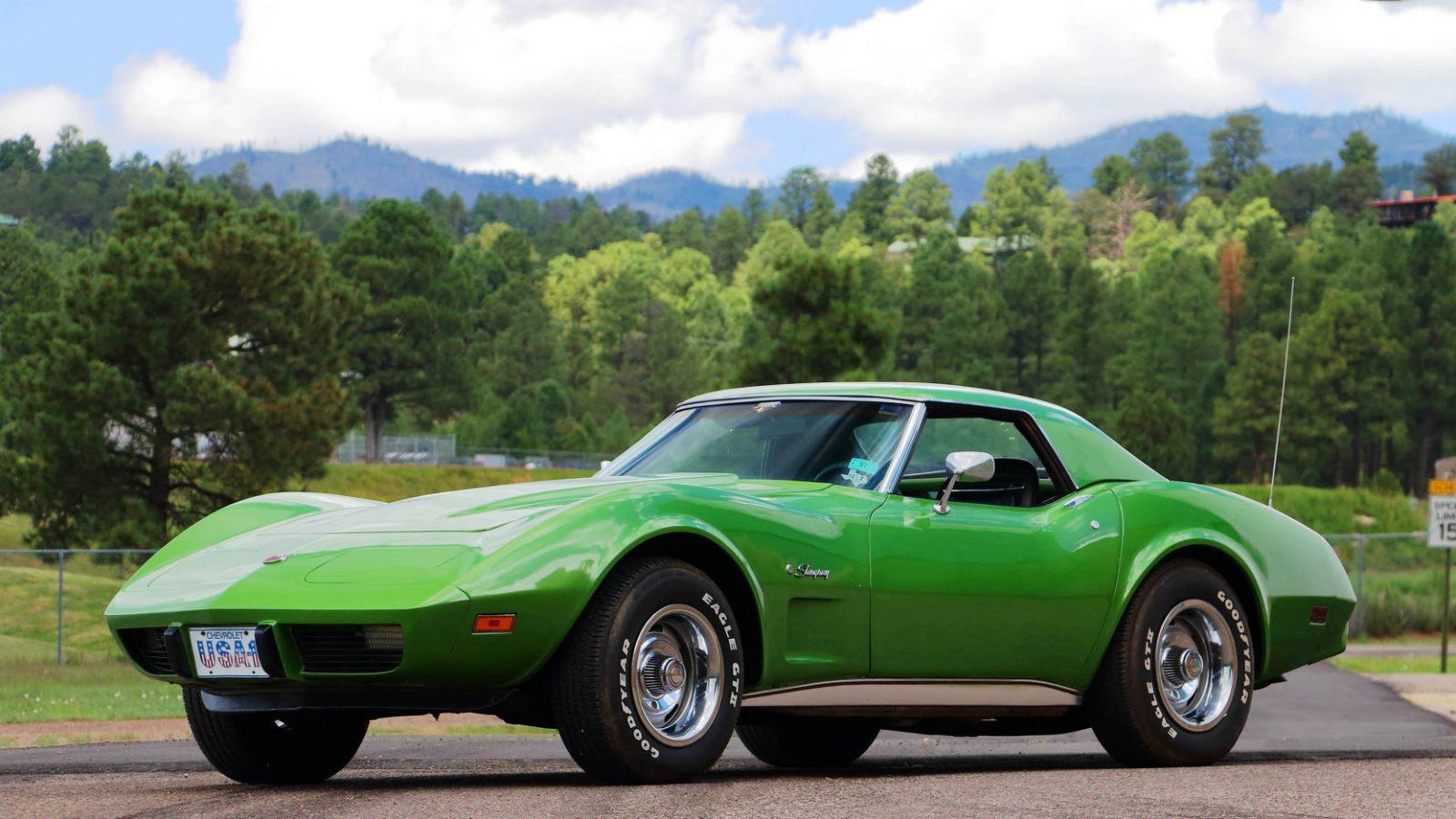 1975 Corvette in Bright Green