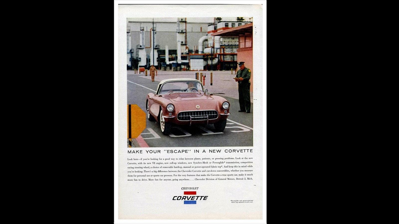 Escape in a New Corvette