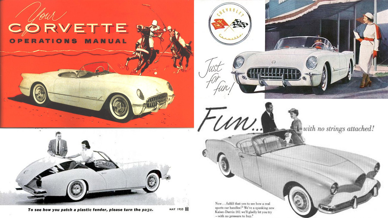 Corvette Year-by-Year Comparo: 1954