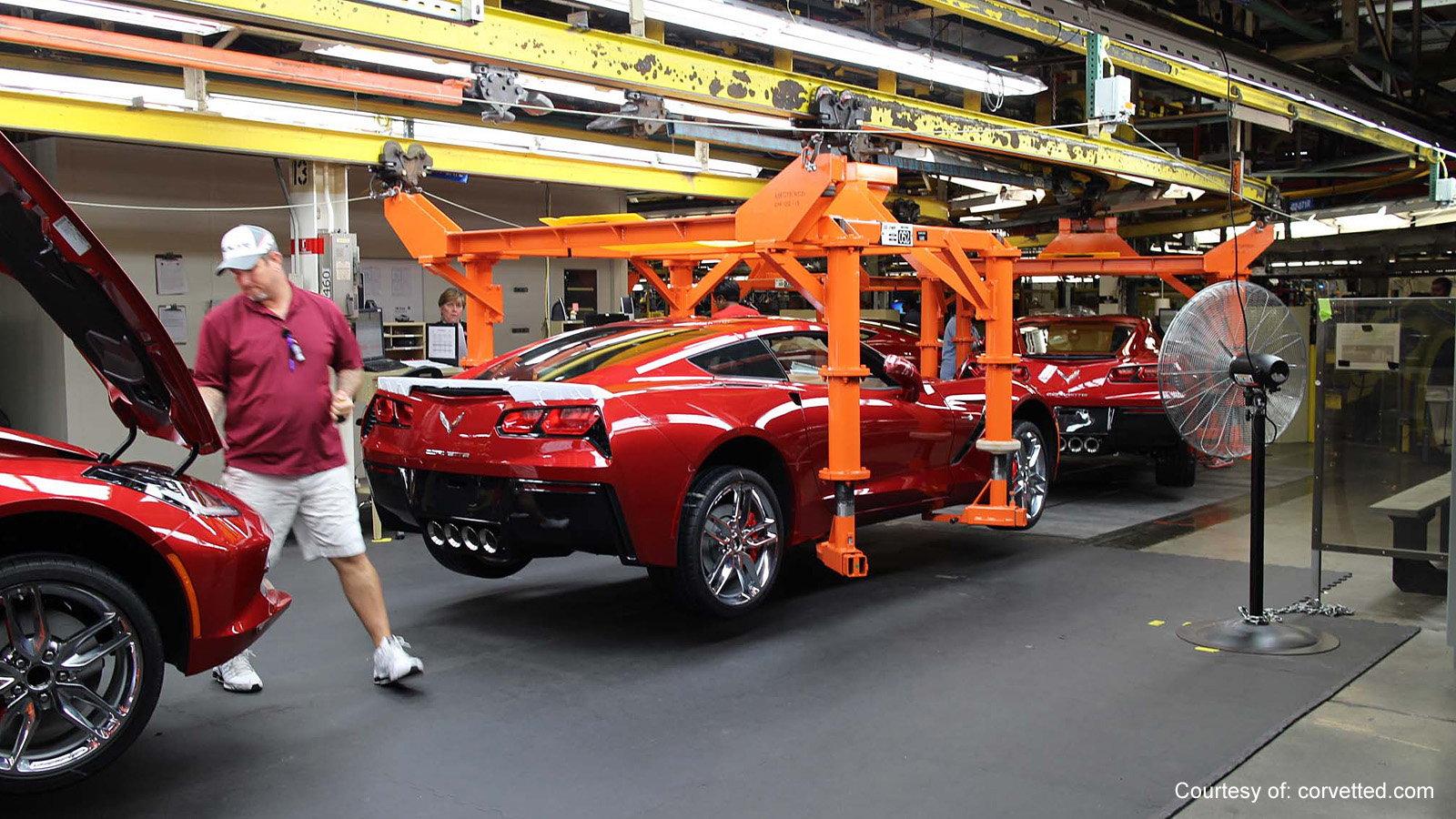 Watch New Corvettes Being Built