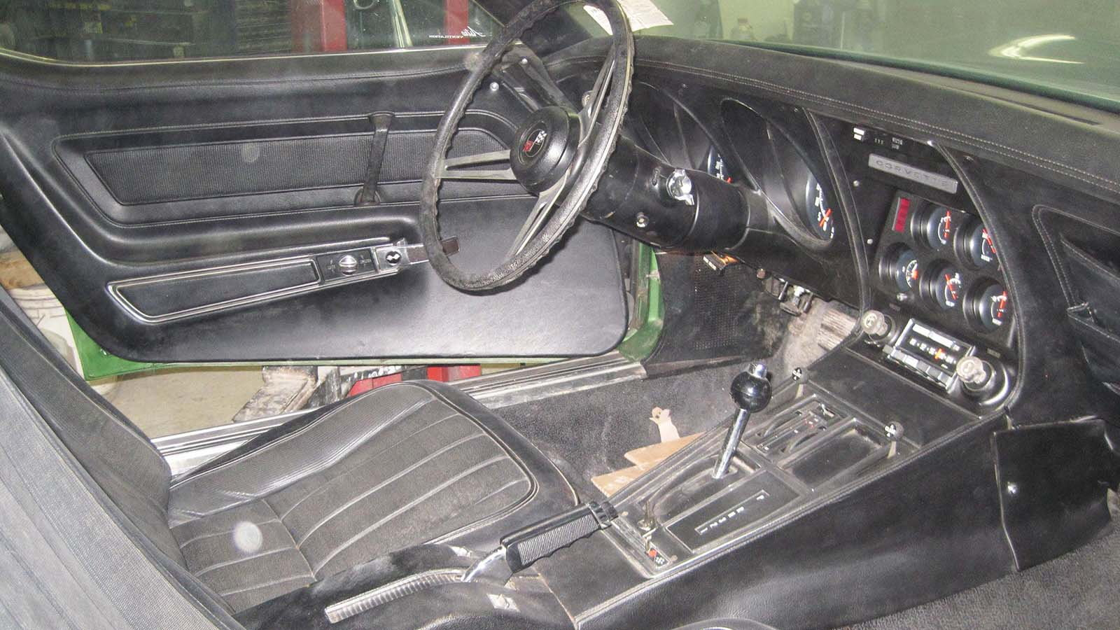 A dusty interior