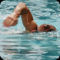 image of man swimming.