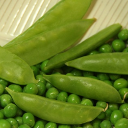 Various types of fresh green peas