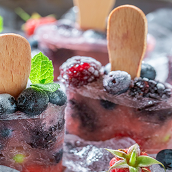 Berry Filled Ice Pops with Sticks