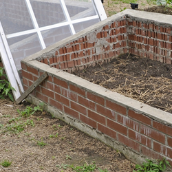 Brick Cold Frame Gardens with tops off
