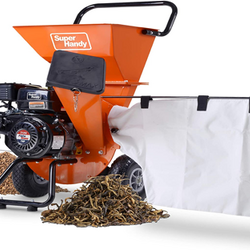 Orange Wood Chipper with Collection Bag