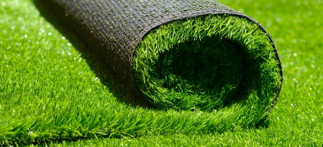 roll of artificial turf
