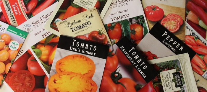 Tomato and pepper seed packages