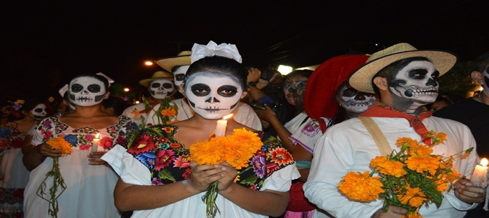 Marigolds and Day of the Dead celebration