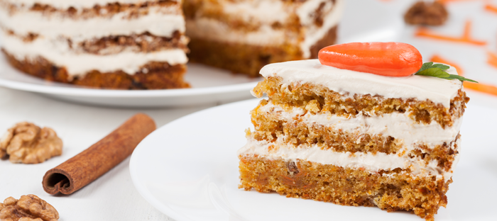 Slice of Carrot Cake on a Plate