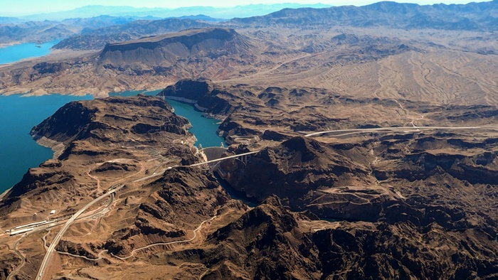 Lake Mead with low water