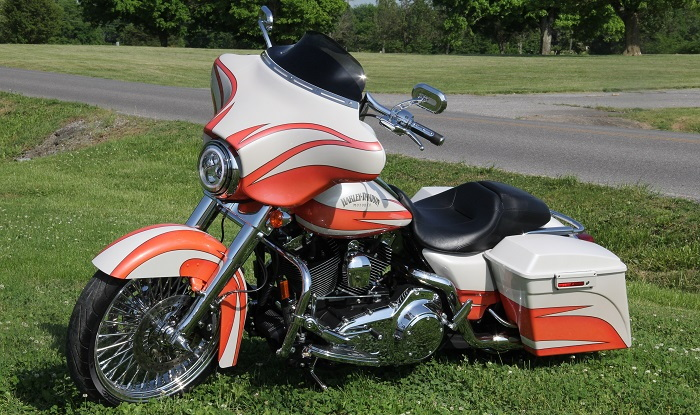 custom painted Harley Davidson
