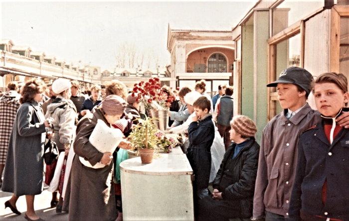 open air market in Russia