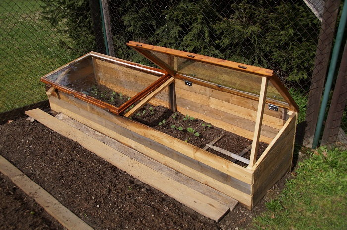 Raised Wooden Cold Frame
