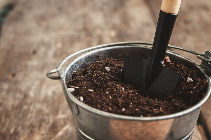 fill a bucket with the soil in your yard to get a better idea of its contents