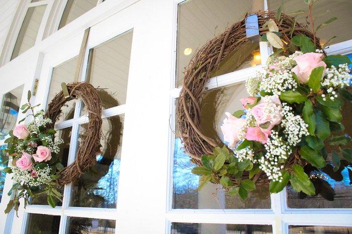 Floral wedding wreath