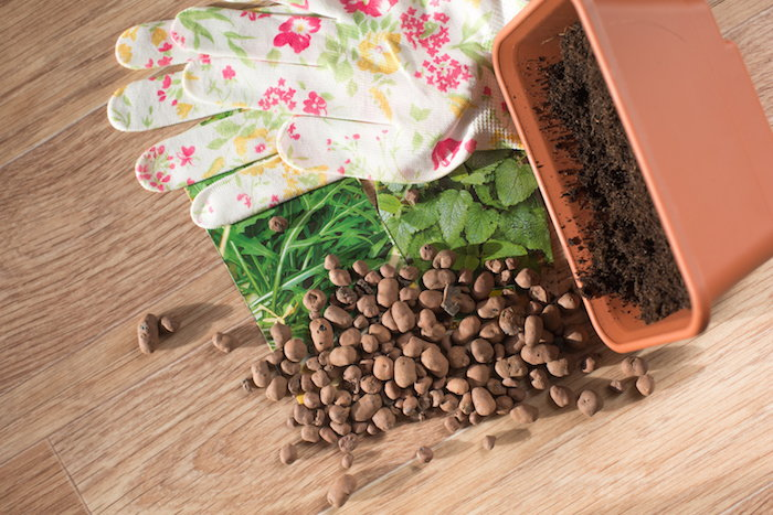 use pebbles to improve your soil's drainage