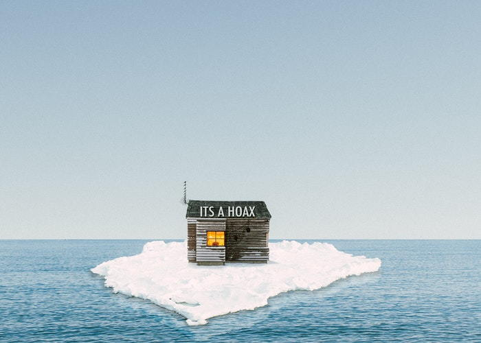 cabin on an iceberg