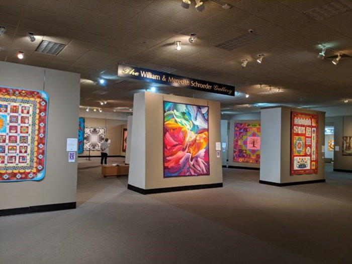 Interior of the National Quilt Museum