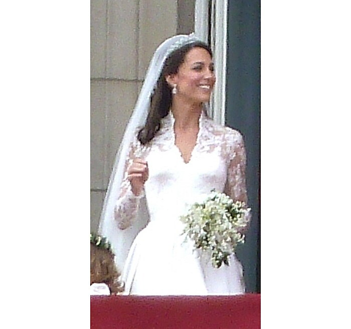 Duchess of Cambridge with her bridal bouquet