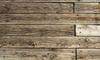 Panels of weathered wood.