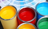 open cans of paint in a variety of bold colors