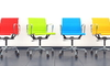 colorful swivel office chairs