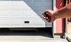 hand opening garage door with remote
