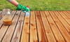 staining exterior wood patio