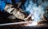 bright firey welding